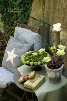 The Swenglish Home: Love the grey pillow with the cream star
