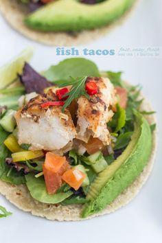 Fish Tacos... see my BREAD Board for a Paleo Tortilla recipe!