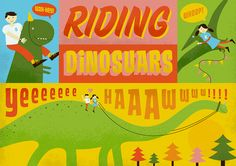 Yes, No, Riding Dinosaurs - Velcro Suit - The Graphic Design and Illustration of Adam Hill