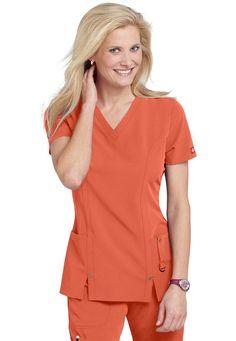 Dickies Xtreme Stretch v-neck scrub top Dental Scrubs, Medical Scrubs, Nursing Clothes, Funky Fashion, Scrub Tops, Rain Wear, Frocks, Overalls, V Neck