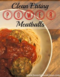 Want spaghetti and meatballs tonight but none of the guilt? You need these clean eating power meatballs! Filled with protein from lean turkey and oatmeal, you have to make these.