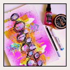 DYLUSIONS PAINTS & DYLUSIONS INKS TUTORIAL – Nika in Wonderland Mixed Media Tutorials