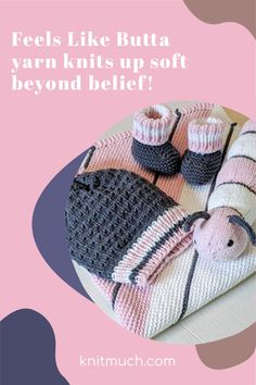 No doubt, Feels Like Butta yarn is super soft but in our review of this yarn we find the stitch definition out of this world.💜😀 Here are 3 free knitting patterns to enjoy the lovely texture of Lion Brand Yarns Feels Like Butta. #Lionbrandyarn #Yarn #Feelslikebutta #Yarnaddict #Knittingtutorials Knitting Patterns Free, Free Knitting, Knitting Yarn, Baby Knitting, Knitted Stuffed Animals, Yarn Stash, Seed Stitch, Knitted Baby Blankets, Lion Brand Yarn