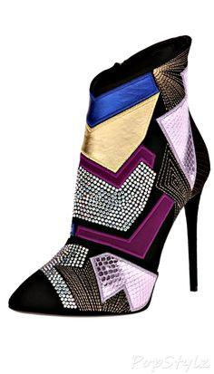 Giuseppe Zanotti Italian Leather High-Heel Boot