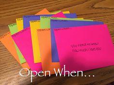 Uniquely College: Open When...