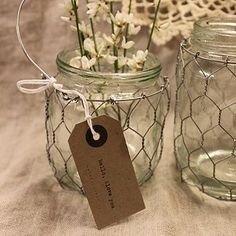 mason jar and chicken wire chandeliers | Pinterest is an online pinboard. Organize and share the things you ...