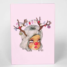 Reindear Greeting Card by Valfre.com