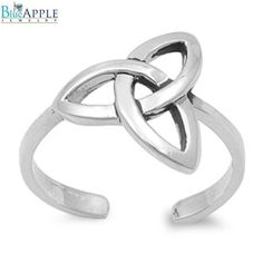 Tangled Knot Toe Ring Infinity 925 Sterling Silver Choose Color