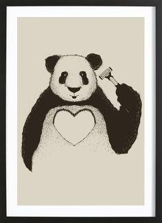 Panda Love als Gerahmtes Poster von Tobe Fonseca | JUNIQE
