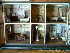 KT Miniatures – Antique & Vintage Dolls Houses Plus Vintage Style Handmade Miniatures