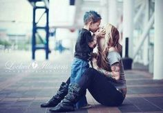 So cute. Mom and son photo idea.