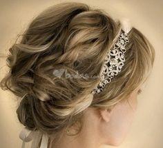 Peinados de novia con diadema - bodas.com.mx