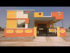 Resultado de imagen para elevations of independent houses House Front Wall Design, Single Floor House Design, House Outside Design, Village House Design, Simple House Design, Bungalow House Design, Modern House Design, Indian House Exterior Design, Exterior House Colors