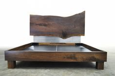 The Trail Creek Bed is a Black Walnut dream with a little touch of Stainless Steel contrast. Beautiful Black Walnut slab head board and Walnut frame make this a rich place to bed down. Available in custom sizes and designs. Shown in a queen size. Please call 406-582-0711 for pricing and order information or email …