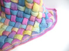 Hand Knit Rainbow Blanket Luxury Heirloom by sheilalikestoknit, contact me and I can send you the pattern link