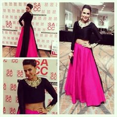 Hit or Miss – Neha Dhupia in Payal Singhal May 2014 Leave a Comment Indian Attire, Indian Wear, Pakistani Outfits, Indian Outfits, Colorful Fashion, Asian Fashion, Women's Fashion, Bridal Wardrobe, Indian Wedding Wear