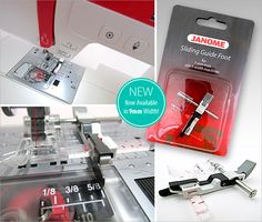 Accessories We Love: The Janome Sliding Guide Foot - Now Available in 9mm Width! | Sew4Home