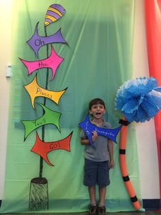 Oh the places you'll go photo booth -- Kindergarten graduation photo booth