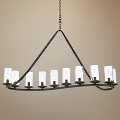 "Heritage 44"" Wide Bronze and Glass Chandelier - finish is dark"