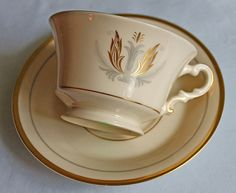 Vintage Porcelain Teacup with Saucer. by AnythingDiscovered