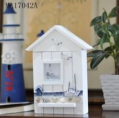 Decorative Key Box For The Wall Orren Ellis Key Box With Clock Color Blue  Key Box And Products