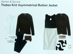Stitch Fix Market & Spruce Thebes Knit Asymmetrical Button Jacket