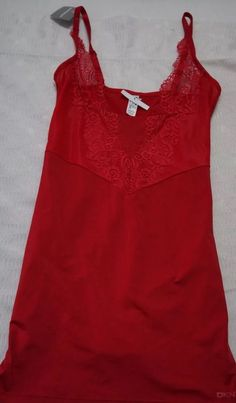 from $11.99 - New Dkny  Intimates Shaping Lights Slip Red Size L   Msrp $60.00
