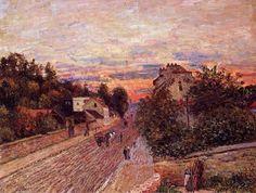ALFRED  SISLEY (1839-1899)  Sunset at Port Marly, 1876