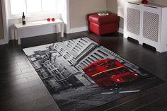 London Bus Rug Size: 150 x 220cm
