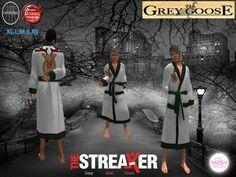(WEAR ME) The Streaker Mens Robe (Reindeer Green Check) secondlife, sl, avatar, men, robes,robe,christmas,xmas,holiday
