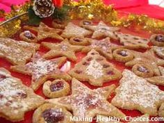 Healthy Cookie Recipe  Chocolate Chip Cookies, Thumbrint Jelly Cookies, Christmas Shape Cookies