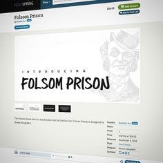 Our newest #font Folsom Prison now for sale on @fontspring! http://s.graticle.com/1iySp