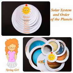 This simple and effective activity is a fun way to introduce the order of the planets from the sun. This resource is a great set for the space week or for the student's science journal. Planets Activities, Solar System Activities, Solar System Crafts, School Age Activities, Science Activities, Science Projects, Activities For Kids, Solar System Projects For Kids, Space Projects