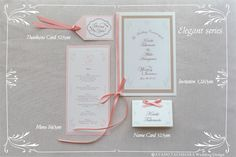 Elegant paper set by AYANO TACHIHARA Wedding Design