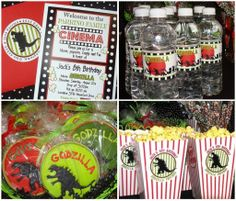 A Movie Theater Birthday {Featuring Godzilla} — Celebrations at Home