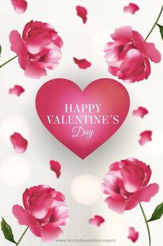Romantic Happy Valentine's Day Wishes + Heartfelt Love Messages Happy Valentines Day Wishes, Valentines Greetings, Valentine Day Cards, Happy Friendship Day, Valentine's Day Quotes, Happy Day, Valentino, Happy Birthday, Blog