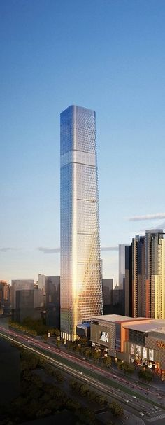 China Resources Centre, Nanning, China by Goettsch Partners :: 88 floors, hieght 439m ☮k☮ #architecture