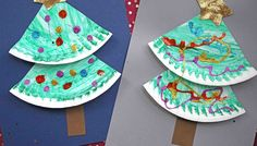 Super Easy Paper Plate Christmas Tree – Kid Craft