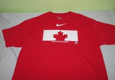 TEAM CANADA HOCKEY   T Shirt  Sz XL - Red - NIKE -  Roberto Luongo 1 #Nike