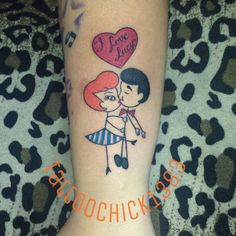 Adorable! Tattoo done at Chaotic Ink #inked #inkedmag #tattoo #love #lucy #stick #figure #art #cute