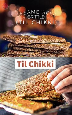 Healthy Indian Snacks, Healthy Desserts, Sesame Seeds Recipes, Chocolate Dishes, Vegetarian Recipes, Snack Recipes, Comida India, Brittle Recipes