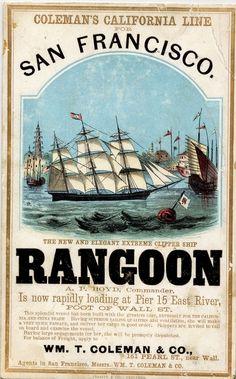 Vintage Clipper Ship 'Rangoon'