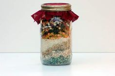 30 homemade soup mixes in a jar. Perfect for co worker, neighbor, or just easy gifts!
