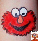 Elmo - from The TOP 100 cheek art photos on the SNAZAROO site