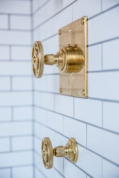 At Home Chic And Stylish September 30 2015 Brass Bathroom FixturesShower