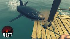 RAFT SURVIVAL - Man-Eating Shark and A Broken Raft - Raft Gameplay
