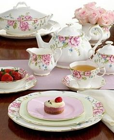 """Afternoon tea ~ lovely china from Royal Albert """"English Rose"""""""