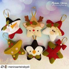 68 Ideas Crochet Crafts For Kids Fun Felt Christmas Decorations, Christmas Ornaments To Make, Christmas Sewing, Felt Ornaments, Christmas Projects, Felt Crafts, Christmas Fun, Christmas Crafts, Crochet Crafts