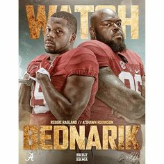 2015 Reggie Ragland and A'Shawn Robinson - By @alabamafbl - ICYMI: Reggie Ragland and A'Shawn Robinson were named to the Bednarik Award Watch List.#Alabama #RollTide #BuiltByBama #Bama #BamaNation #CrimsonTide #RTR #Tide #RammerJammer