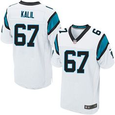 9e845a8fb Nike Elite Ryan Kalil White Men s Jersey - Carolina Panthers  67 NFL Road Shaq  Thompson